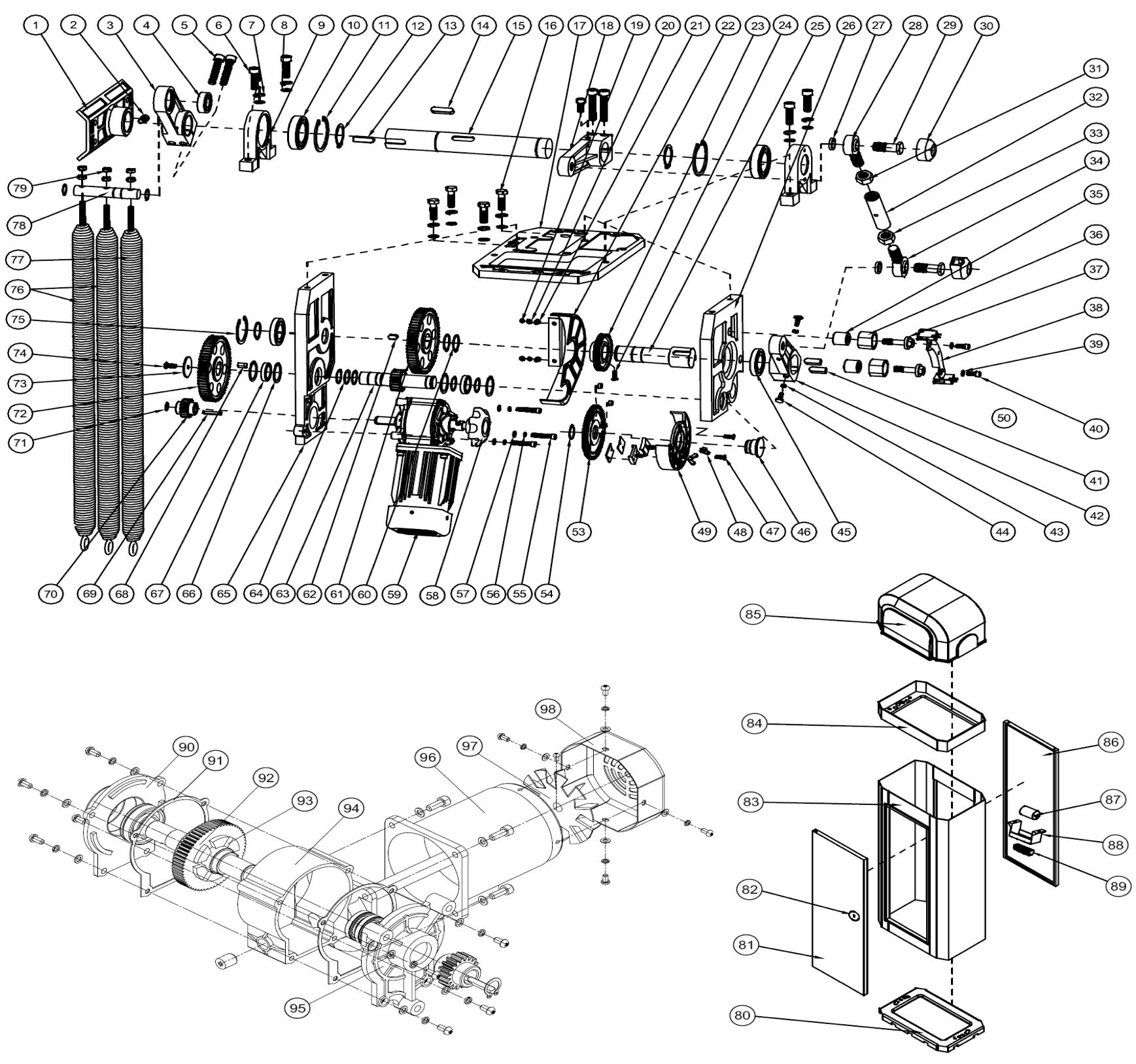 привод doorhan sliding 1300 электрическая схема